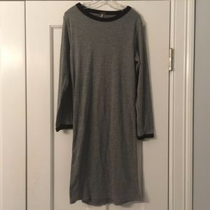 Dresses & Skirts - Tight Ribbed Grey Bodycon Ringer Neck TShrt Dress